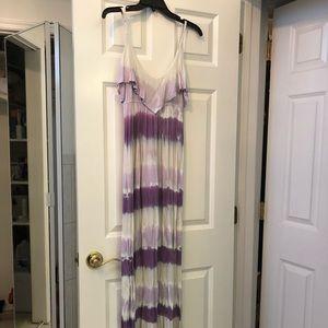 Gypsy Purple and White Tidie Maxi Dress